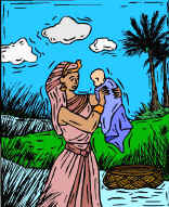 Bible Story : Moses found by the Pharoah in Egypt