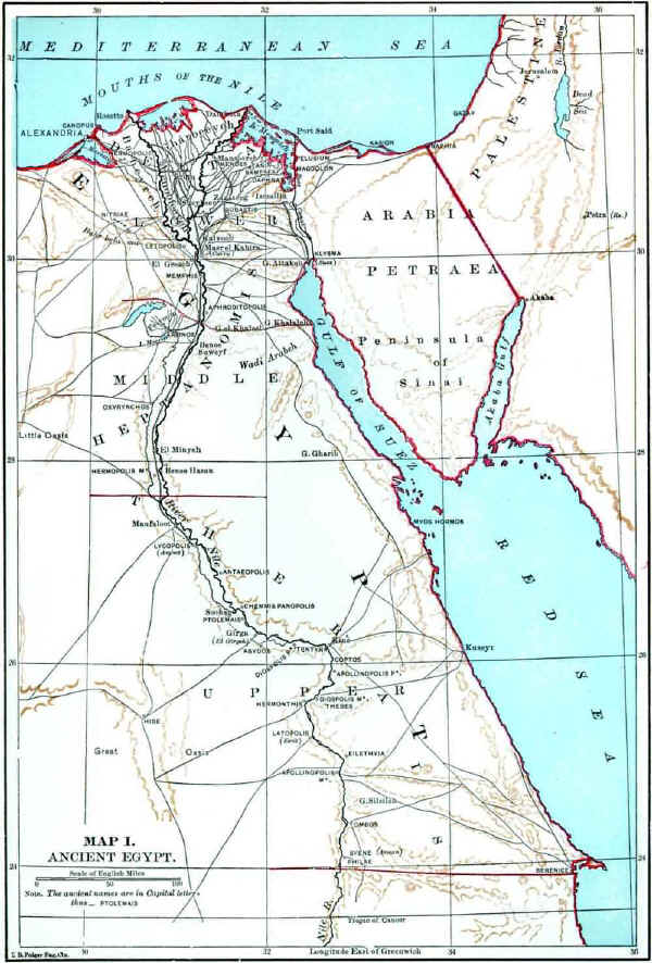 Bible Map of Ancient Egypt